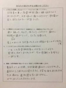 豊田市 50代男性 坐骨神経痛 声